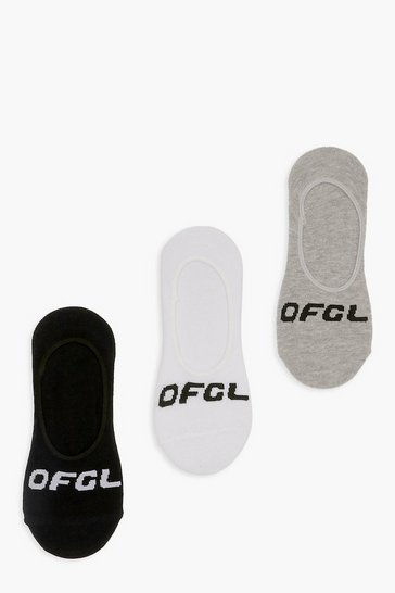 Multi Ofcl Branded Invisible Socks 3 Pack