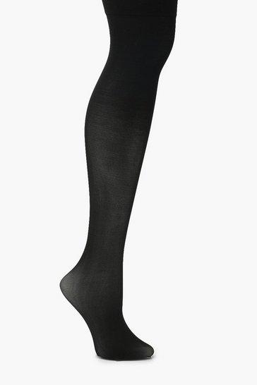 Black Plain Top Stockings