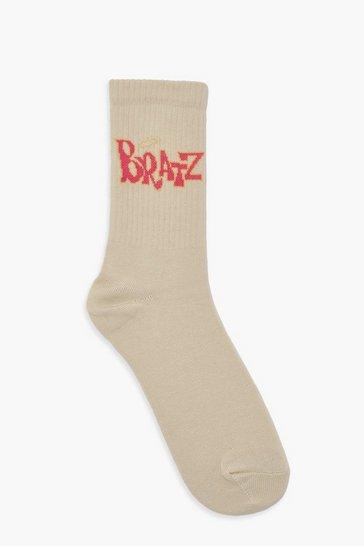 Stone beige Bratz Licensed Knitted Socks