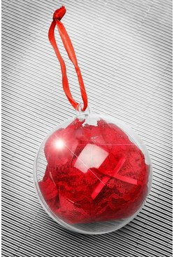 Red Lace Thong Christmas Bauble