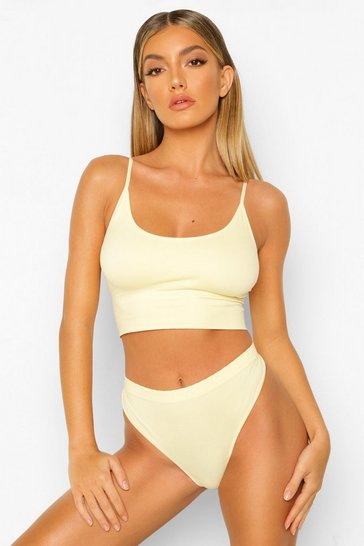 Lemon yellow Yellow Know Your Lemons Seamfree Bralette