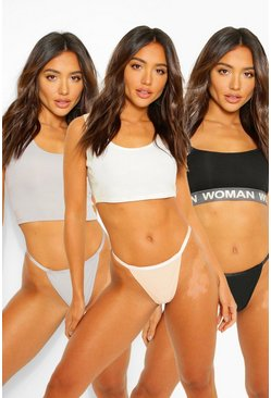 Multi 3 Pack Rib Thong