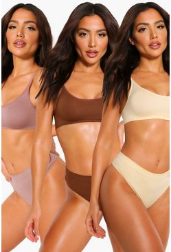 Multi 3 Pack Seamfree Thong