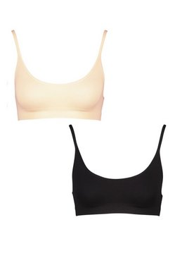 Multi 2 Pack Seamfree Scoop Bralette