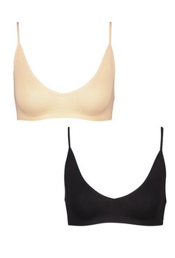 Multi 2 Pack Seamfree Triangle Bralette