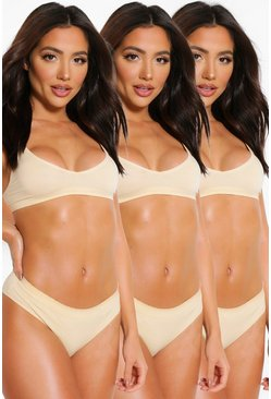 Nude 3 Pack Seamfree Thong