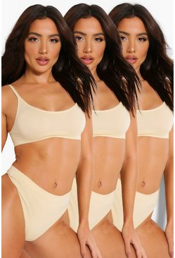 Nude 3 Pack Seamfree Scoop Bralette