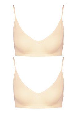 Nude 2 Pack Seamfree Triangle Bralette