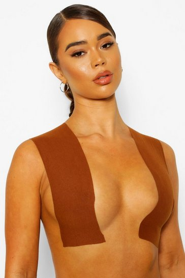 Brown Wide Breast Lifting Body Tape - 10cm Wide