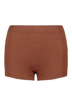Chestnut Ribbed Seamless Boxers