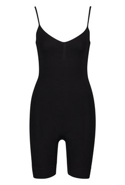 Black Seamfree Contour Leotard