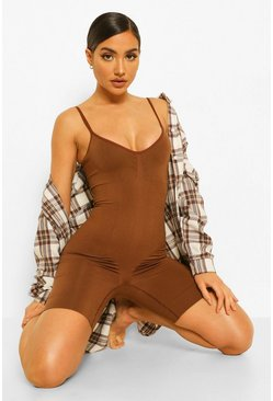 Chestnut brown Seamfree Contour Leotard