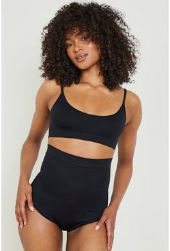 Black 2 Pack High Waist Control Brief