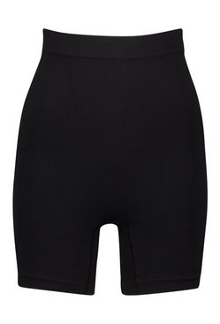 Black High Waist Control Short