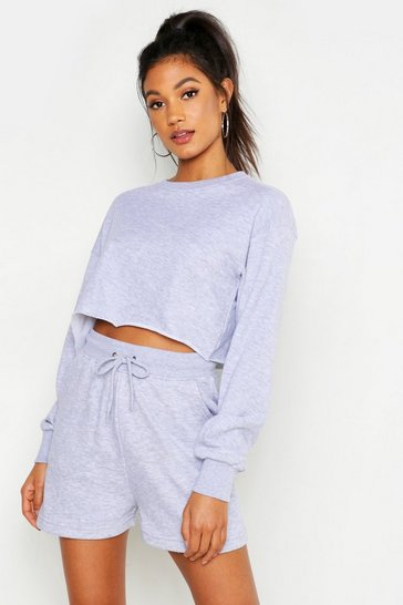 Mix And Match Soft Cropped Loop Back Set