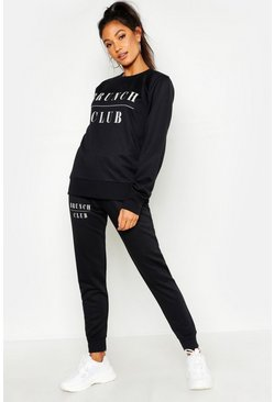 Black Mix & Match Brunch Club Lounge Jogger