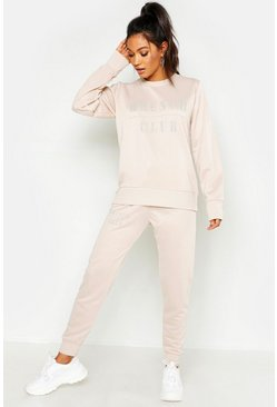 Ecru white Mix & Match Brunch Club Lounge Jogger