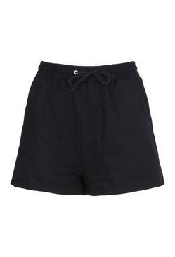 Black Mix and Match Soft Loop Back Lounge Shorts
