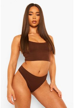 Chocolate Seamfree Longline Lounge Bra