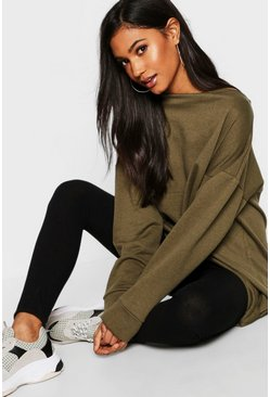 Khaki Oversized Lounge Sweater