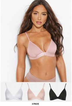 Multi Triangelbralettes (3-pack)
