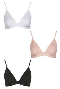 Multi 3 Pack Triangle Bralette