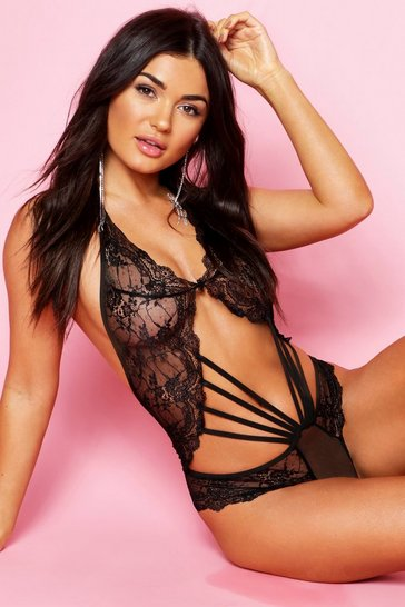 Black Strapping Lace Body