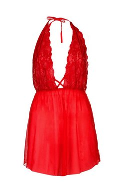 Red Rosie lace and Mesh Babydoll