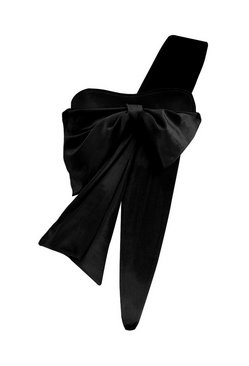 Black Natalie Velvet Wrap Me Up Bow