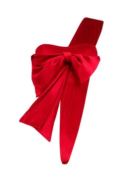 Red Natalie Velvet Wrap Me Up Bow