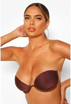 Chestnut Stick On Strap Underwired Bra
