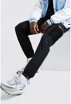 Black Original MAN Shell Cargo Trouser With Mesh Pockets