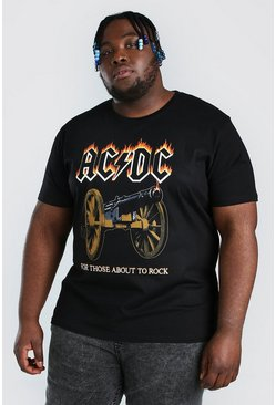 Plus Size Acdc License T-shirt, Black negro