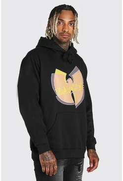 Oversized Wu-Tang License Hoodie, Black nero