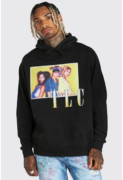 Black svart Oversized TLC License Hoodie