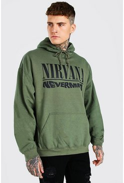 Green Oversized Nirvana Nevermind License Hoodie
