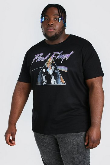 Black Plus Size Pink Floyd License T-shirt