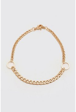 Gold metallic Contrast O Ring Necklace