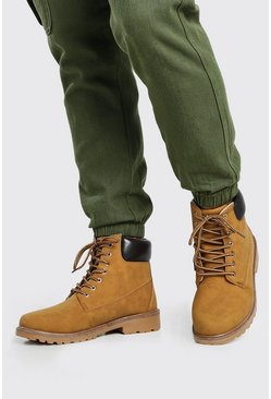 Tan brown Worker Boots