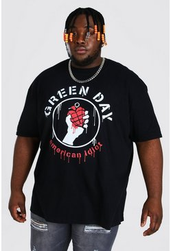 Grande taille - T-shirt officiel Green Day, Black noir