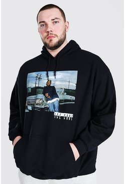 Black Plus Size Ice Cube License Hoodie