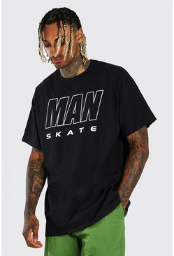 Black MAN Skate Oversized T-Shirt
