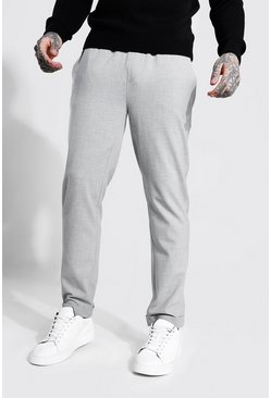 Light grey grey Skinny Smart Cropped Jogger With Turn Up