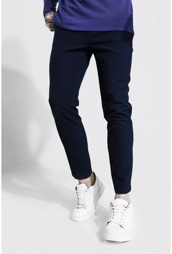 Navy Korte Nette Super Skinny Joggingbroek