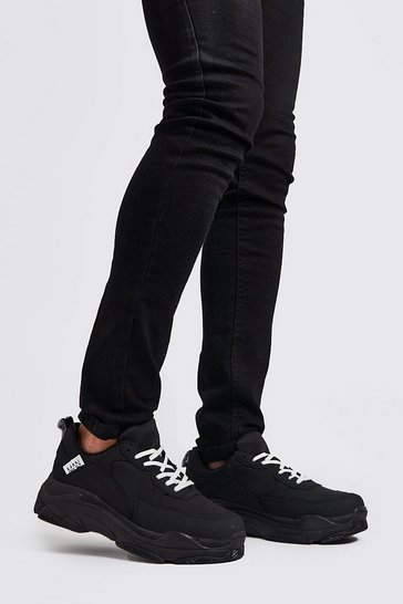 Black Matte Chunky Trainer