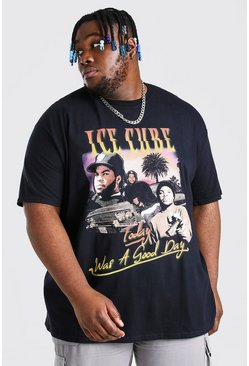Black Plus Size Gelicenseerd Ice Cube Homage T-Shirt