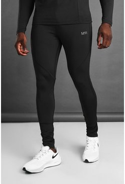 Black MAN Active Skinny Fit Jogger With Ankle Zips