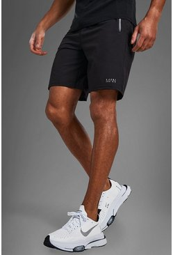 Black MAN Active Shorts With Zip Pockets