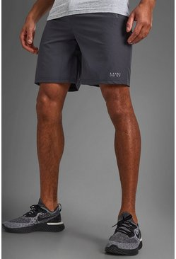 MAN Active Shorts With Zip Pockets, Charcoal gris