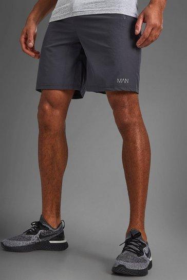 Charcoal grey MAN Active Shorts With Zip Pockets